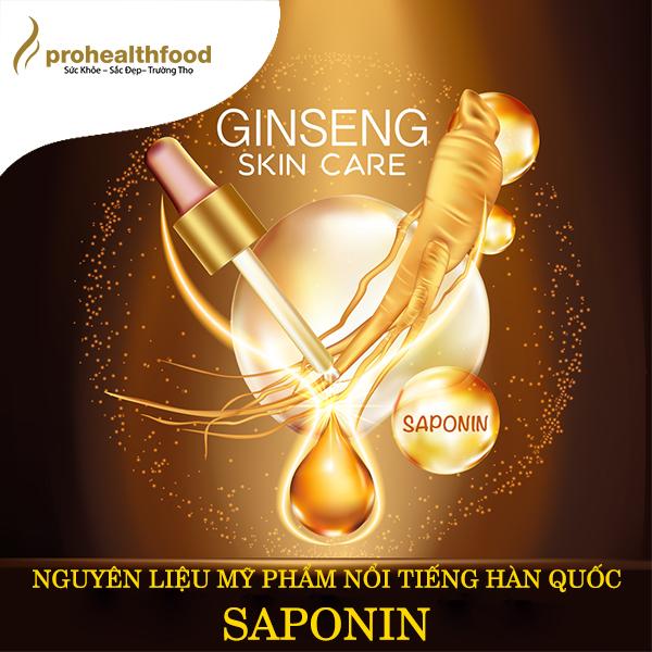 Saponin trong cây sâm tươi ProSam là một trong những nguyên liệu mỹ phẩm nổi tiếng ở Hàn Quốc.