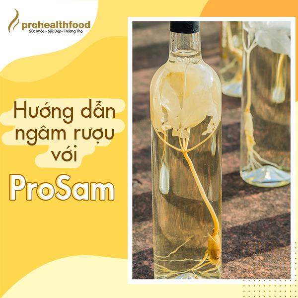 Hướng dẫn ngâm rượu với ProSam.